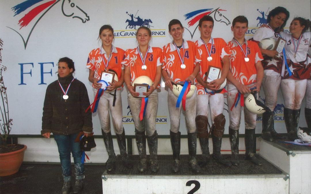 Cadets elites et poussins n4 Vice-champions de France Horse-ball 2013