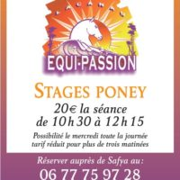 Stages vacances scolaires